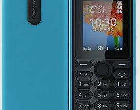 Nokia 108 dual sim Blue 3D model