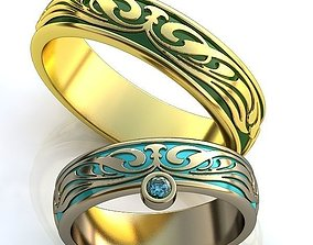 jewelry accessory 3D print model Gold Metal Rings