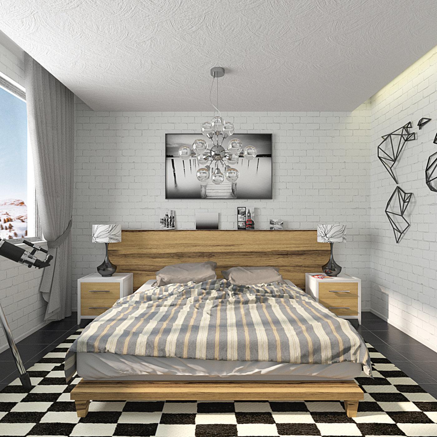 Bedroom (Blender + Octane)
