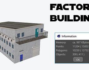 Fctory Building Lowpoly 3D model