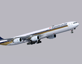 3D model Airbus A340-600 Singapore Airlines