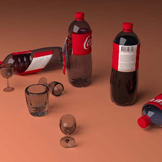 coke bottle  and class