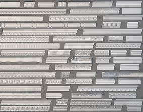 Cornice Collection -2 - 64 pieces 3D model