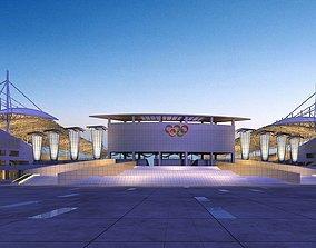 3D Ornate Stadium Exterior