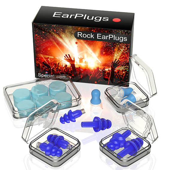 Rock earplugs 3d model for advertising
