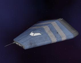 3D model Low-Poly Transport Ship