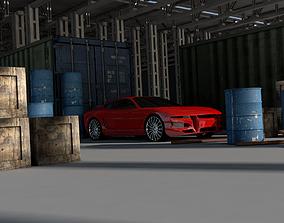 Warehouse 3D shipping