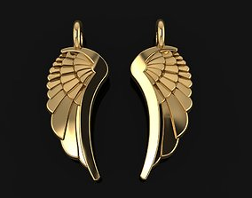 3D printable model ANGEL WING DOUBLE SIDES PENDANT MID