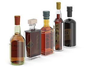 3D Liquor Bottles