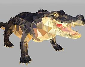 3D model Crocodile Low Polygon Art Reptile Animal