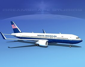 Boeing 767-300 North American 3D