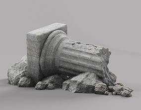 columns Damaged Pillar 3D