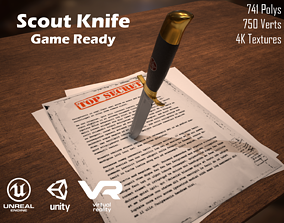 Scout knife Game ready 3D model