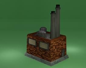 3D model VR / AR ready mill factory