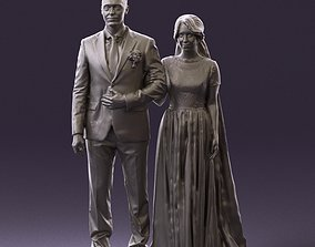 000965 Wedding man in dark blue and woman 3D Print Ready
