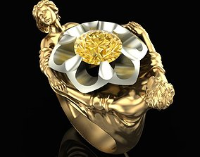 Ring Flower of Happiness 3D print model
