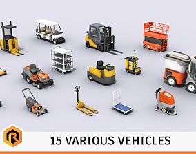 Vehicles Collection 03 - Low Poly 3D model