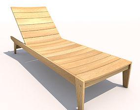 Sun Lounger - Flatwood 3D