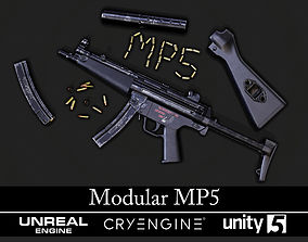 Modular MP5 - Textured - Game Ready 3D asset