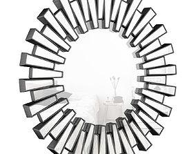 3D Richards Aztec Inspired Sparkling Sunburst Round