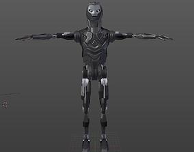 3D asset Robot Low-Poly Model