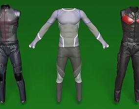 character comic book male costumes v1 3D model