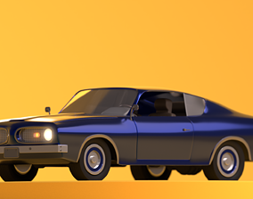 low-poly 3D Plymouth barracuda