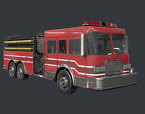 3D model Fire Engine Truck Emergency Vehicle Game Ready