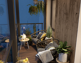 brilliant Balcony 3D model