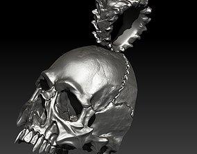 3D printable model Big Skull Pendant sin