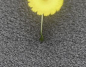 3D asset Low-Poly Dandelion Flower Version 6 - Object 37