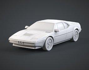 Retro Sports Car 3D printable model