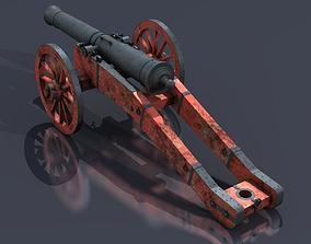 XVIII Century field cannon 3D
