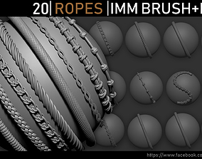 Zbrush - Ropes IMM Brush and Meshes 3D asset