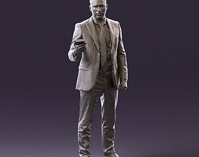 001056 businessman in darkgray suit money in hand 3D 2