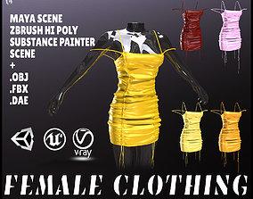 3D model VR / AR ready Female Clothing