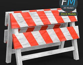 3D model PBR Construction barrier