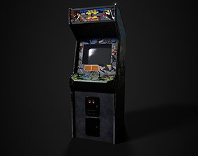 Double Dragon 2 Arcade Machine 3D model