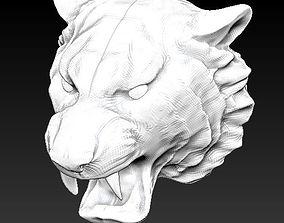 3D print model cat tiger head