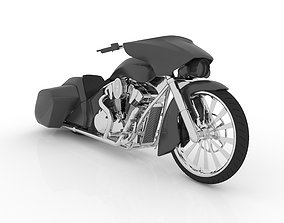 Bagger Chopper Motorcycle 3D Printable Model STL