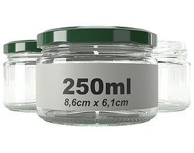 350ml jar glass type7 3D