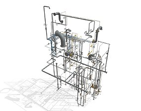 3D printable model Process Plant UAE - Piping engineering