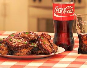 Coca-Cola and Food 3D