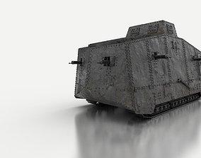 A7V German Tank WW1 3D model