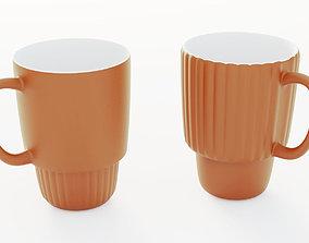 3D orange mugs