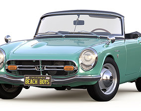 Honda S800 Cabriolet 1966 3D model