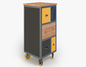 Retro Cupboard cabinets 3D model