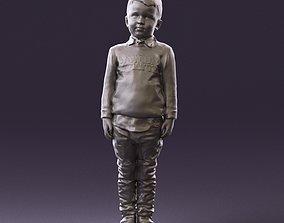 000995 little boy in red sweater 3D Print Ready