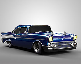 chevrolet 3D model Chevrolet Bel Air 1957