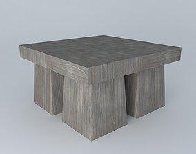 Exterior Teak Coffee Tables 3D